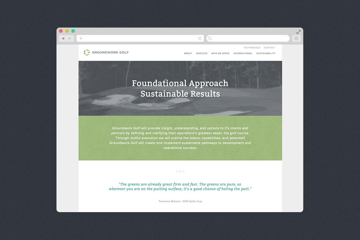 Groundwork Golf Website