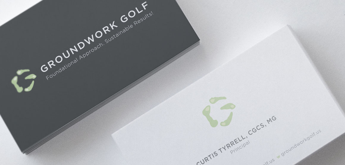 Groundwork Golf business cards