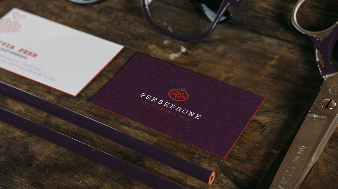 Persephone Furniture business cards