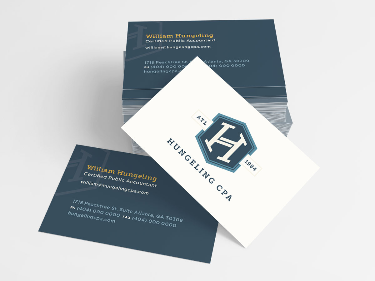 Hungeling CPA business cards