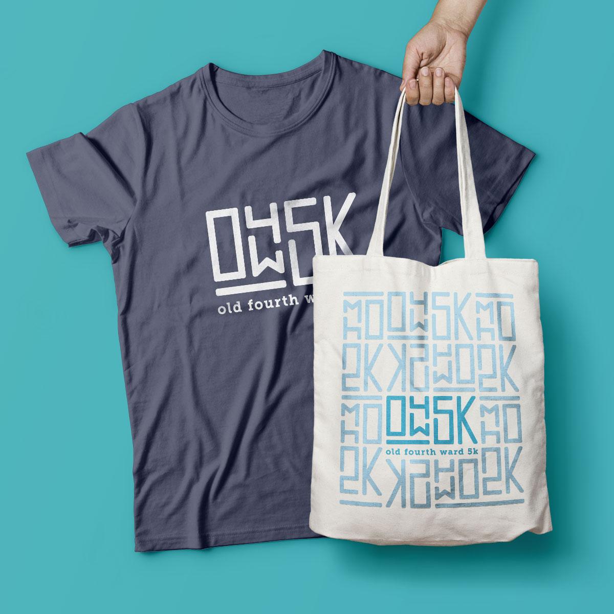 O4W5K t-shirt and swag bag