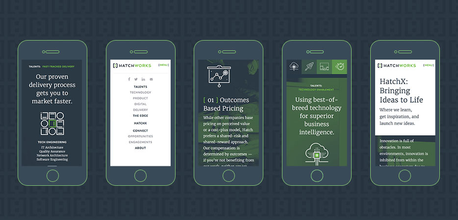 Hatchworks mobile web